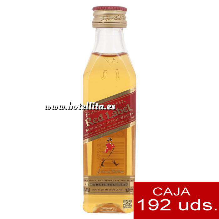 Imagen Whisky Whisky Johnnie Walker Etiqueta Roja CAJA DE 192 UDS - SUPER OFERTA