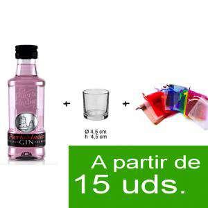 EN KITS DE REGALO - Pack Ginebra Puerto de Indias Strawberry 5cl más chupito más Bolsa de Organza