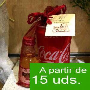 EN KITS DE REGALO - Pack Whisky DYC Cherry 5cl más Coca Cola lata 25cl más Bolsa de Organza