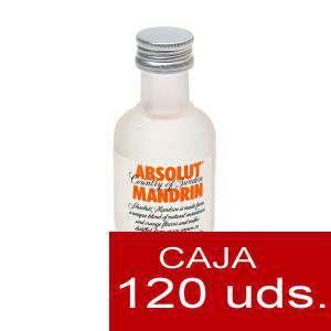 Vodka - Vodka Absolut Mandrin 5cl CAJA DE 120 UDS