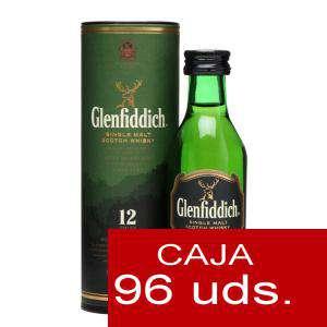 Whisky - Whisky Glenfiddich 12 años c/Tubo, 5CL . CAJA DE 96 UDS