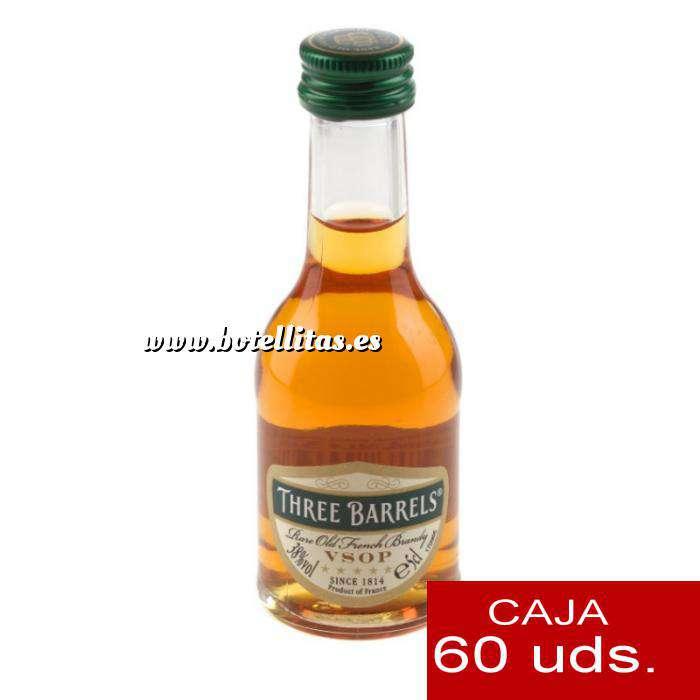 Imagen Brandy Brandy Three Barrels VSOP 5cl. CAJA DE 60 UDS.