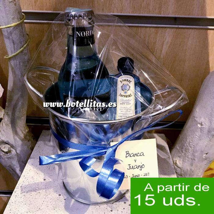 Imagen EN KITS DE REGALO Pack Bombay Sapphire Cristal 5cl con Nordic Blue Mist 20cl en cubo metal