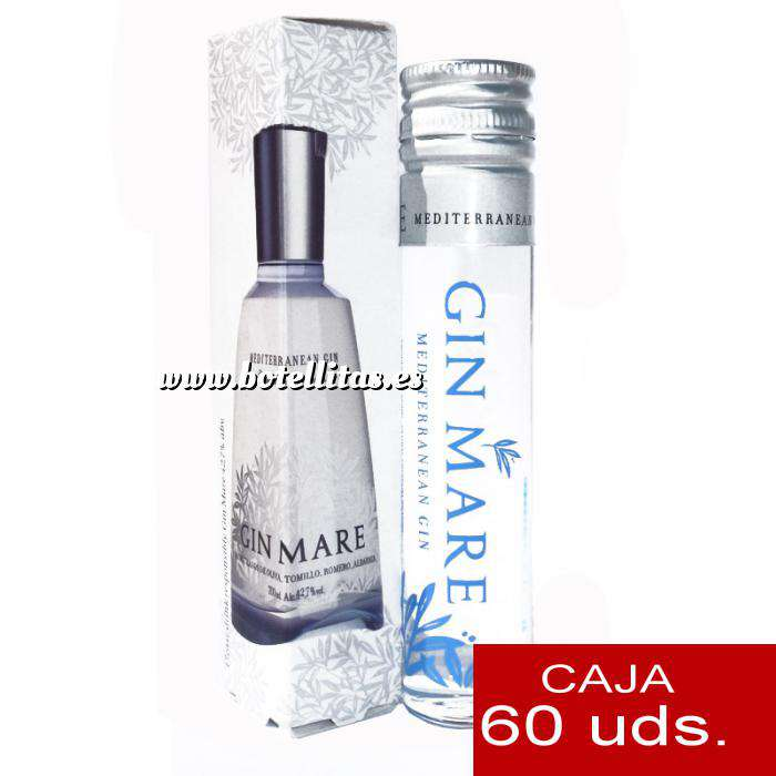 Imagen Ginebra Ginebra Gin mare 5cl en cajita de cartón LOTE 60 Uds (PRODUCTO ESTRELLA)