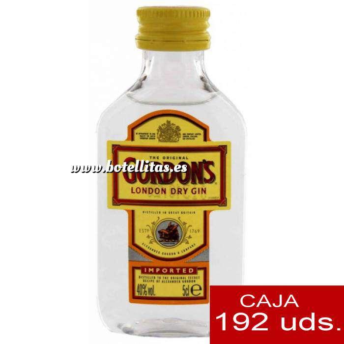 Imagen Ginebra Ginebra Gordon´s London Dry Gin 5cl CAJA DE 192 UDS