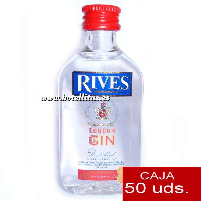 Imagen Ginebra Ginebra Rives London Gin 5cl CAJA DE 50 UDS