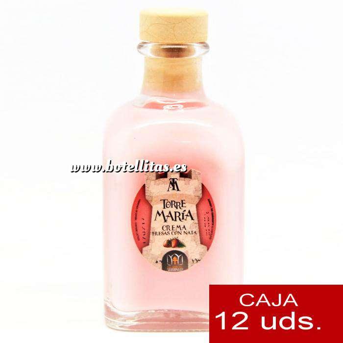 Imagen Licores, orujos y crema Crema de Fresas y Nata Torre María FRASCA 100 - CAJA DE 12 UDS