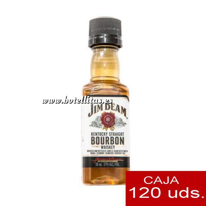 Imagen Whisky Bourbon Jim Beam KENTUCKY STRAIGHT (Tapón Negro) CAJA DE 120