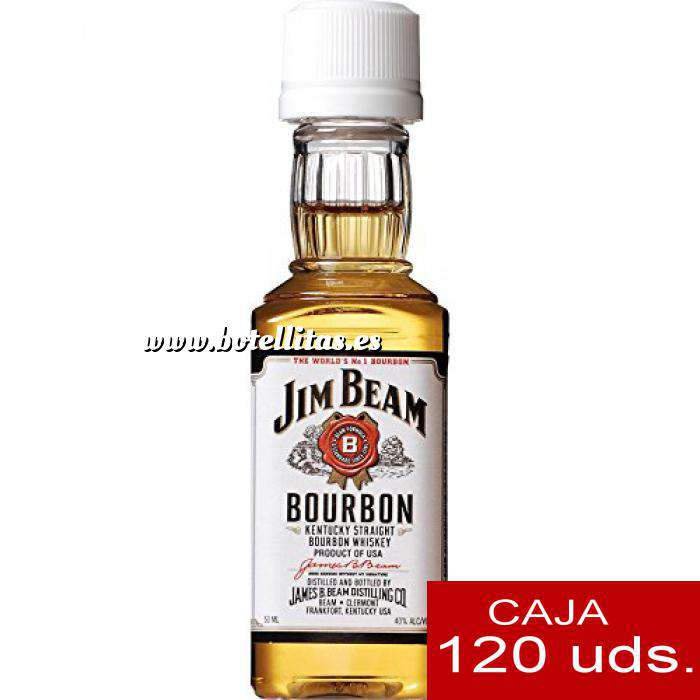 Imagen Whisky Bourbon Jim Beam (Tapón Blanco) CAJA DE 120 UDS