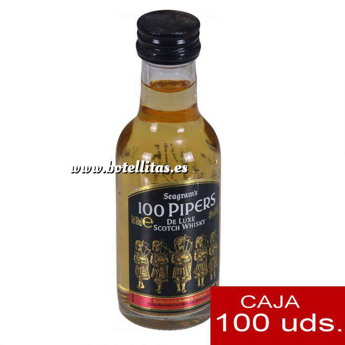 Imagen Whisky Whisky 100 pipers 5cl CAJA DE 100 UDS