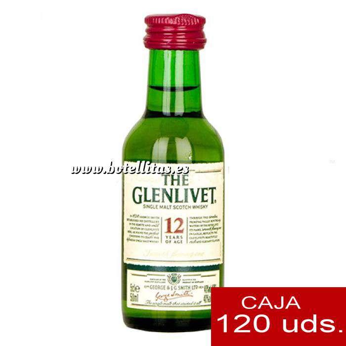 Imagen Whisky Whisky Glenlivet 12 años MALTA 5cl CAJA DE 120 UDS