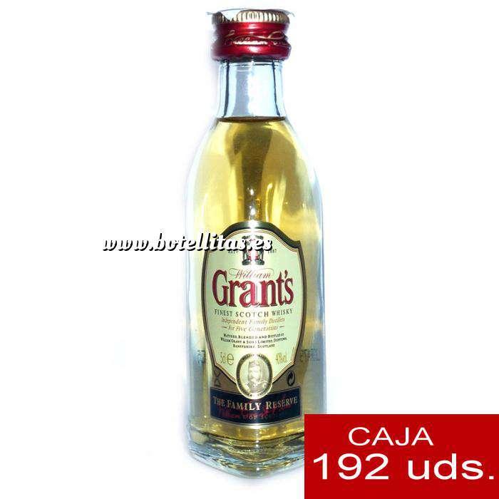 Imagen Whisky Whisky Grants Escocés 5cl - CAJA DE 192 UDS