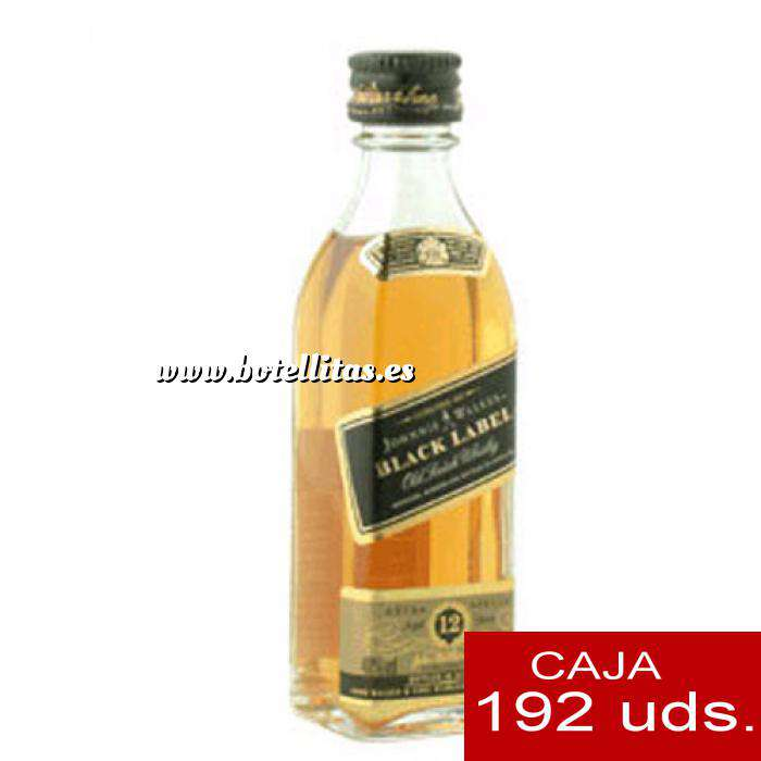 Imagen Whisky Whisky Johnnie Walker Etiqueta Negra 5cl CAJA DE 192 UDS
