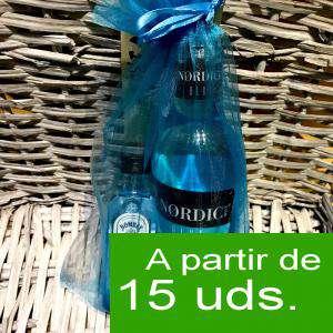 EN KITS DE REGALO - Pack Bombay Sapphire Cristal 5cl más Nordic Blue Mist 20cl más bolsa de organza
