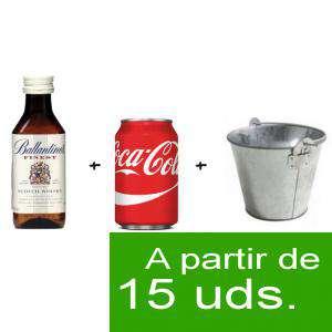 EN KITS DE REGALO - Pack Whisky Ballantines Finest 5cl más Coca Cola 25cl lata más Cubo de metal (duplicado)