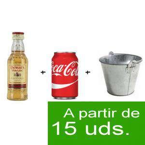 EN KITS DE REGALO - Pack Whisky Dewar´s White Label 5cl más Coca Cola lata 25cl más Cubo de metal