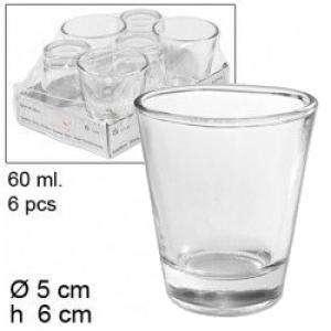 Frascas y Tarros VACÍOS - Vaso de Chupito de Cristal - 6 x 5 x 5