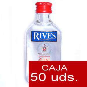 Ginebra - Ginebra Rives London Gin 5cl CAJA DE 50 UDS