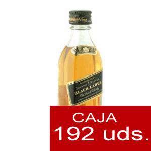 Whisky - Whisky Johnnie Walker Etiqueta Negra 5cl CAJA DE 192 UDS
