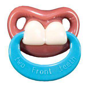Chupetes Dientes - Chupete Ñajai con Anilla - Two Front Teeth Pacifier Billy Bob w/Ring