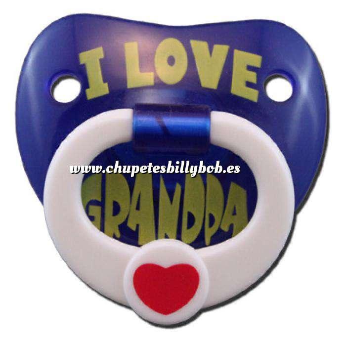Imagen Chupetes Dientes Chupete Amo al Abuelo (I Love Granda) - I Love Grandpa Pacifier Billy Bob