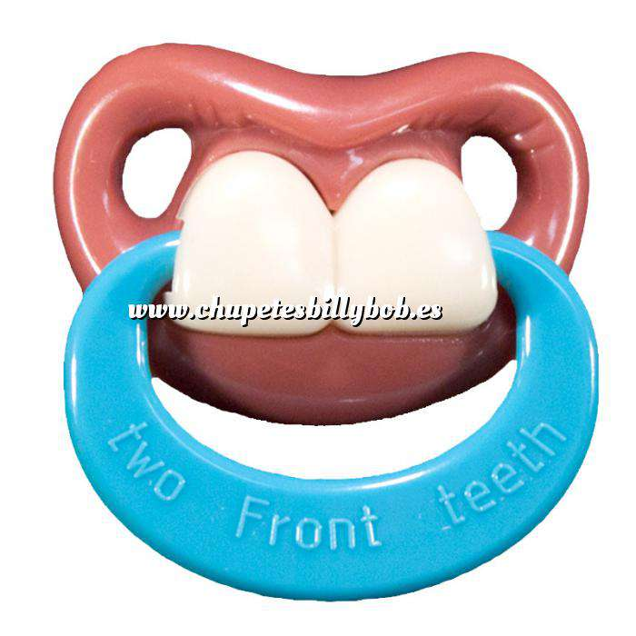 Imagen Chupetes Dientes Chupete Ñajai con Anilla - Two Front Teeth Pacifier Billy Bob w/Ring