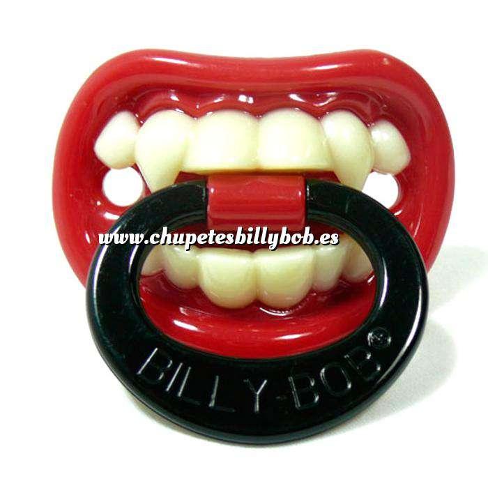 Imagen Chupetes Dientes Chupete Pequeño Vampiro Rojo - Little Vampire Pacifier Billy Bob