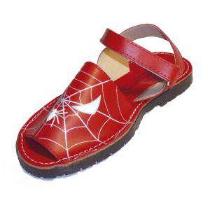 Spiderman - Avarca - Menorquina piel niño Spiderman Talla 30
