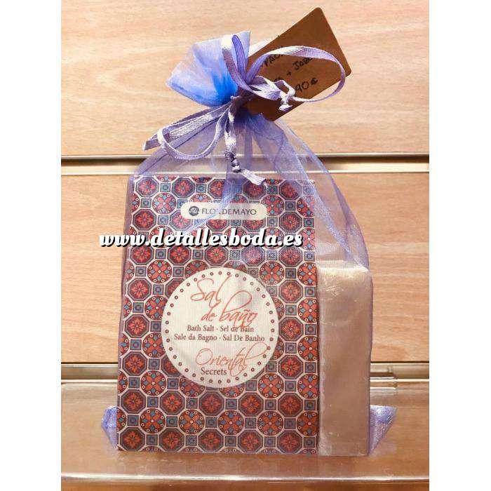 Imagen Baño y aromas PACK jabón y sales de baño Flor de Mayo en bolsita de organza
