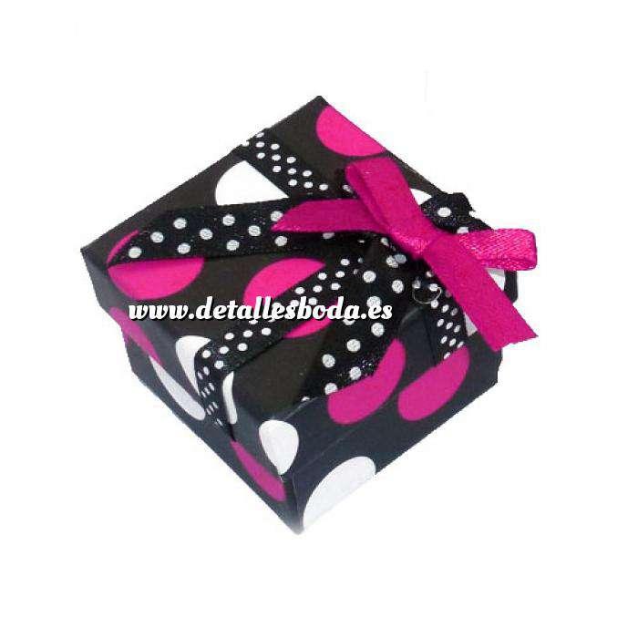 Imagen Cajitas para regalo Cajita para anillos o regalitos - negra y lunares fucsia y blanco