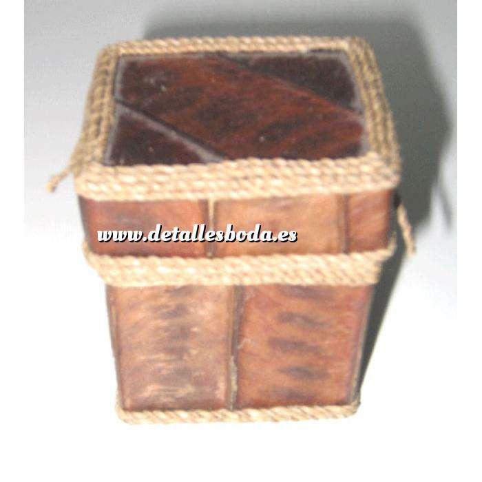 Imagen Cajitas para regalo caja rustica corteza - cuadrada (Últimas Unidades)