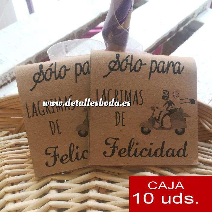 Imagen Detalles para la ceremonia Pañuelos PACK DE 10 - (Plegado kraft) Sólo para lágrimas de felicidad