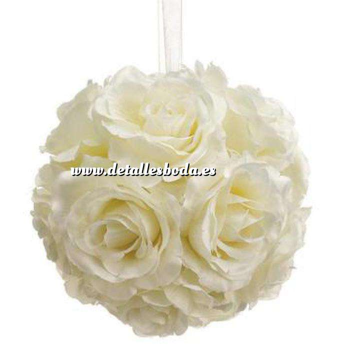Imagen Detalles para la ceremonia Pompon color beige 16 cm- Decoracion evento