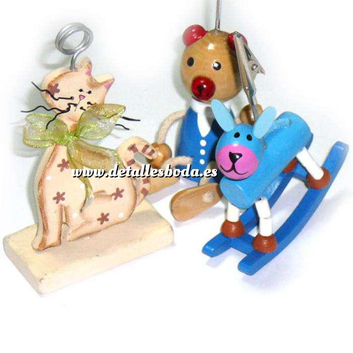 Imagen Niños Pinzas porta fotos de madera (animales) (Últimas Unidades)