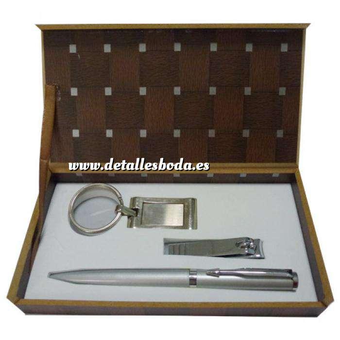 Imagen Para Hombre Set bolígrafo más llavero más cortauñas