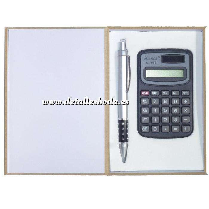 Imagen Para Hombre set bolígrafo y calculadora en caja de madera (Últimas Unidades)
