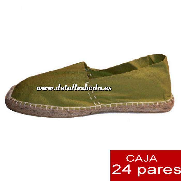 Imagen Para Hombres Alpargatas cerradas HOMBRE color kaki Tallaje 40-46 -caja 24 pares (TIENDA)