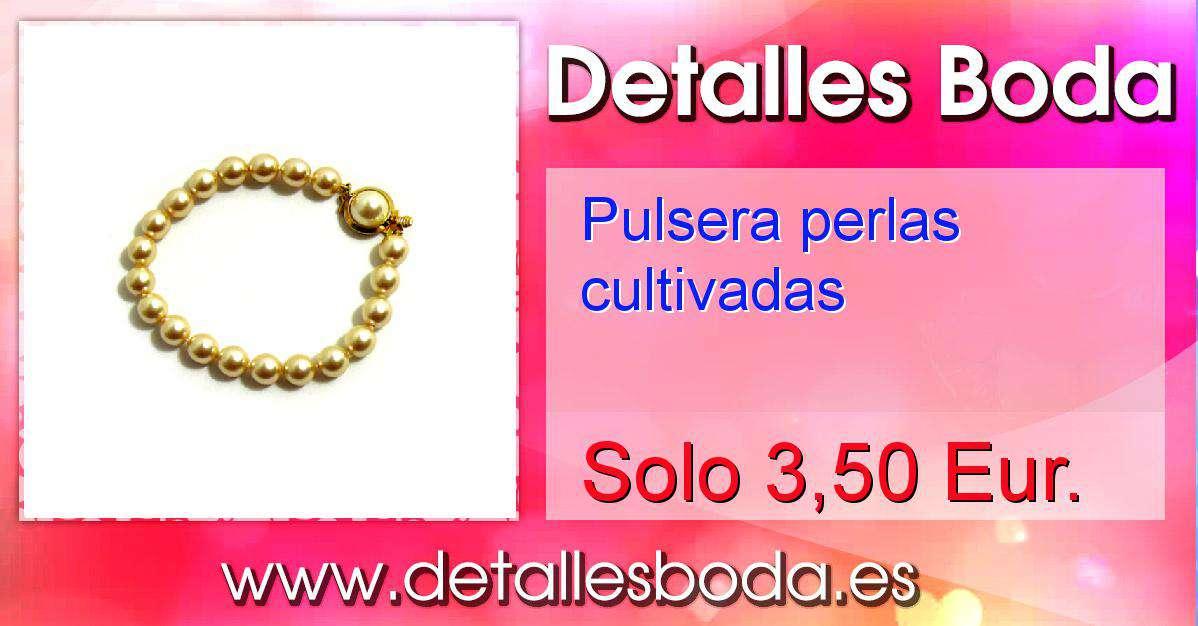 5e7108eef529 Pulsera perlas cultivadas