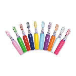 Imagen Baño y aromas Mini Cepillo de dientes NARANJA con pasta incluida