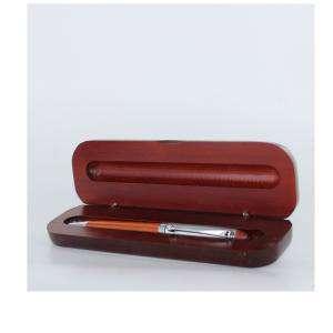 Imagen Boligrafos Bolígrafo imitacion madera Cerezo y Plata con caja madera Caoba (Últimas Unidades)