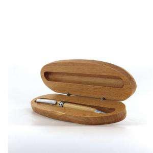 Boligrafos - Bolígrafo imitacion madera Haya con caja madera Haya