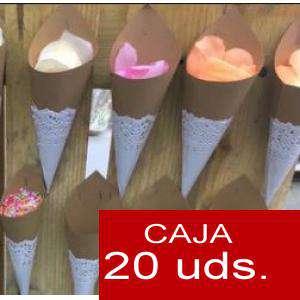 Detalles para la ceremonia - Conos Cucuruchos KRAFT con blonda - Pack de 20 conos (Últimas Unidades)