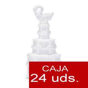 Detalles para la ceremonia - Pompero Pastel con cisne Caja de 24 unidades