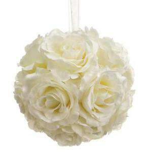 Detalles para la ceremonia - Pompon color beige 16 cm- Decoracion evento