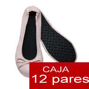 Enrollables/Plegables - Bailarinas Enrollables Modelo ESPECIAL - ROSA PASTEL - Lote de 12 pares (OFERTA INVIERNO)