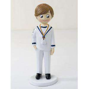 Figuras de Comunión - Figura Pastel comunion marinero mano en bolsillo