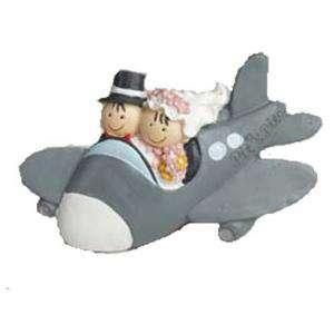 Genérico - Imán novios en avión Pit-Pita