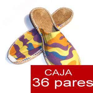Hombre Abiertas - Alpargatas Abiertas HOMBRE Mimetizadas Amarillo caja 36 pares (Últimas unidades)
