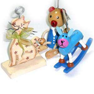 Niños - Pinzas porta fotos de madera (animales) (Últimas Unidades)