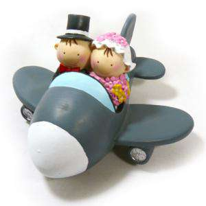Novios Tarta Divertidos - Muñeco Boda Avión Hucha